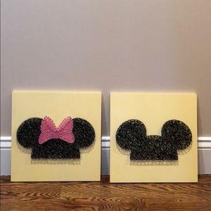 Minnie & Mickey Rope Art work